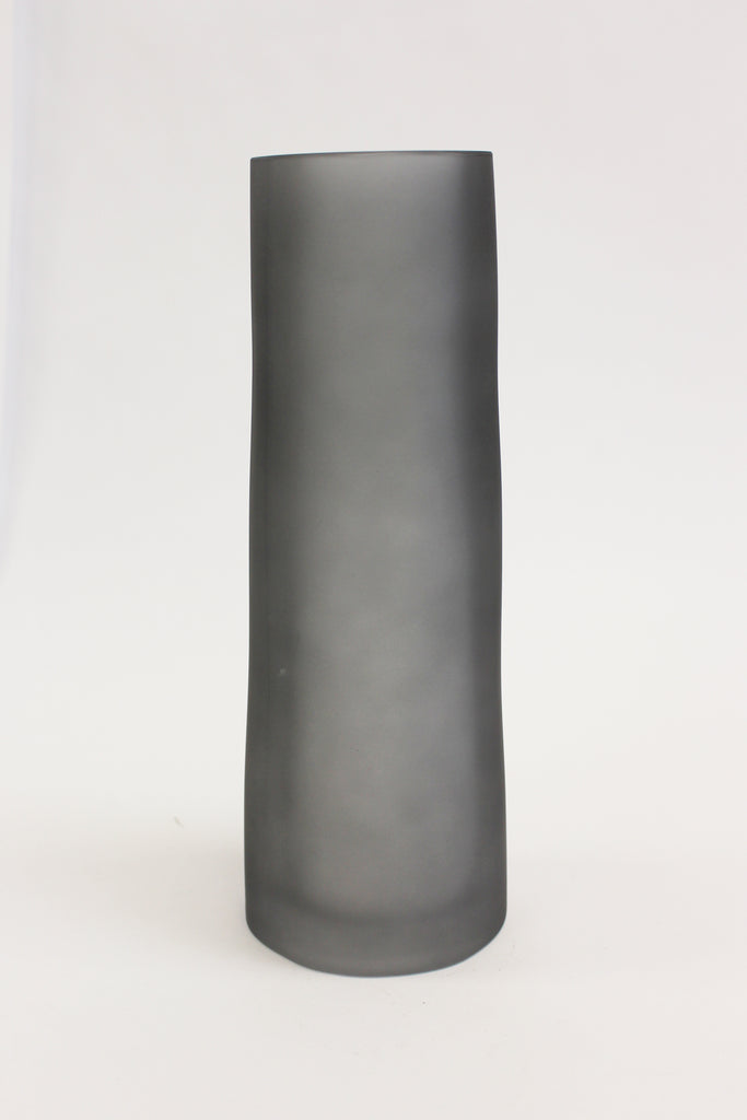 Glass A-Symmetrical Tall Frosted Vase