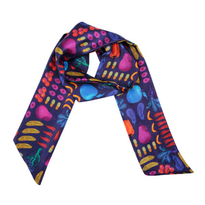 Airmiles Neck Scarf in Deep Purple
