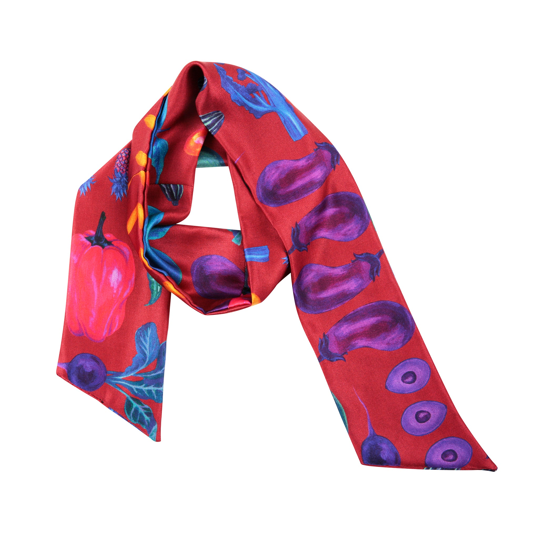 Airmiles Neck Scarf in Red
