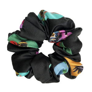Endangered Polka Scrunchie in Black
