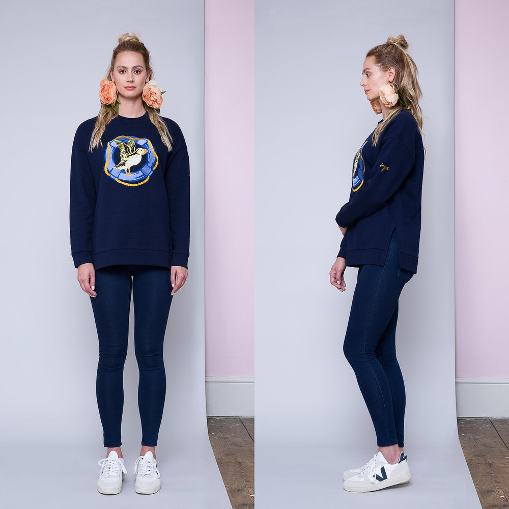 Puffin Embroidered Sweatshirt