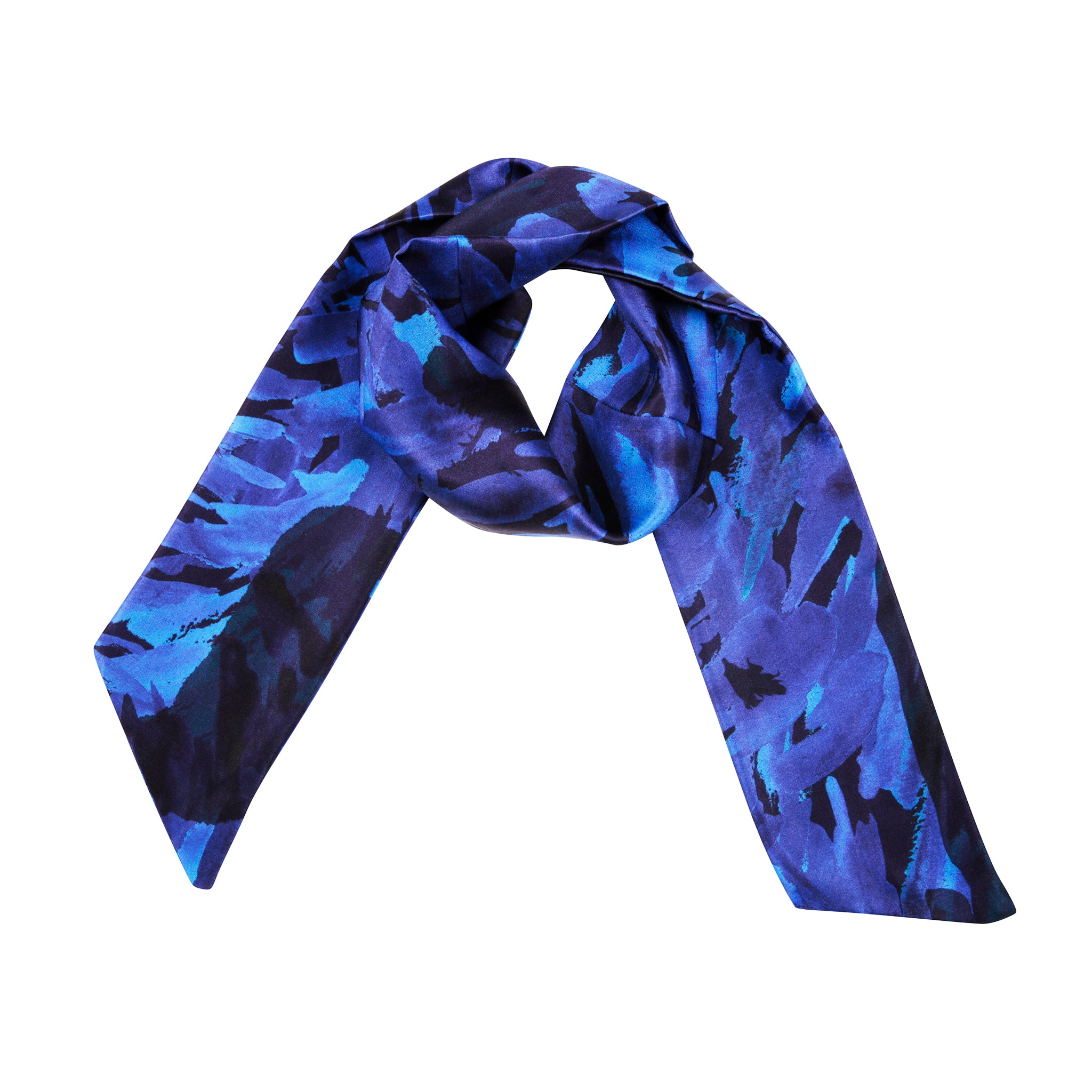 Water Neck Scarf in Blue