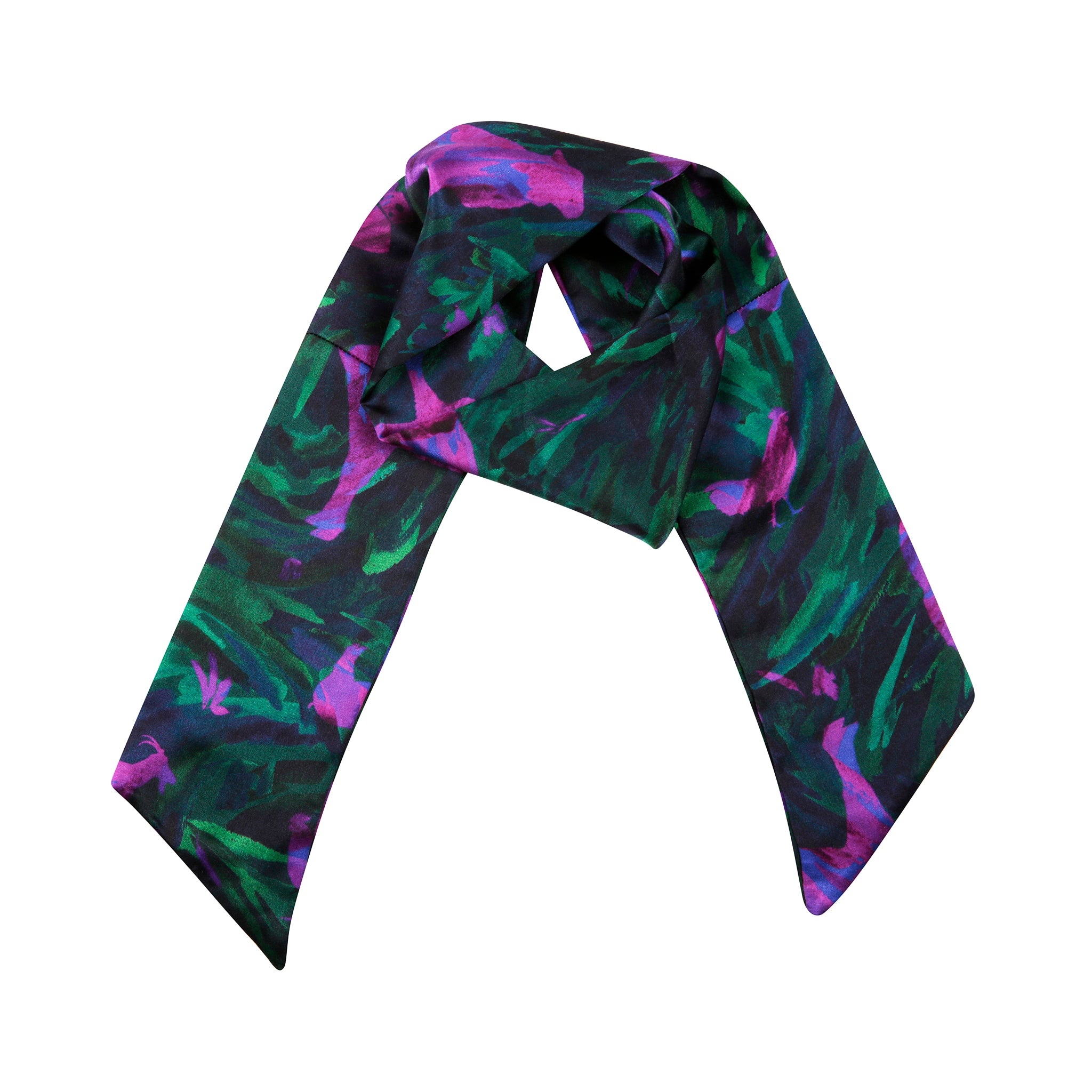 Water Neck Scarf in Green