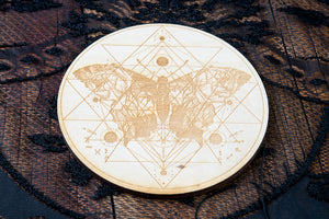 Butterfly Crystal Grid Board | Birch Wood