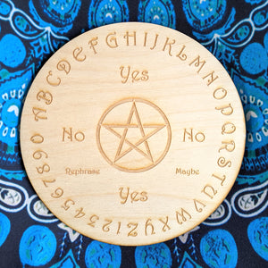 Pendulum Board for Divination | Birch Wood