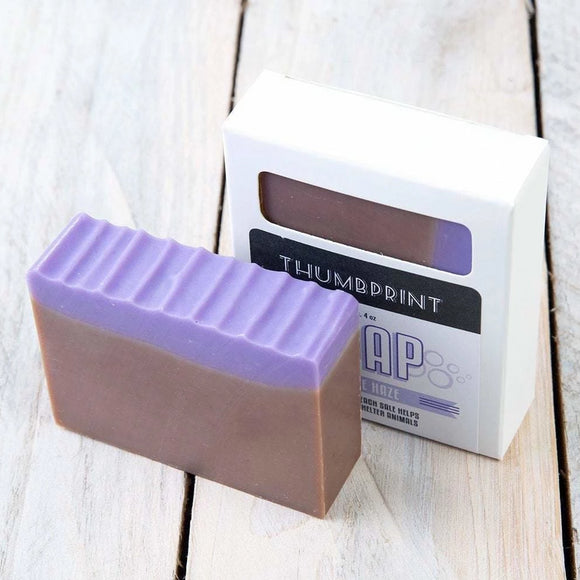 Purple Haze Soap | Patchouli, Lavender & Amber - Thumbprint Soap