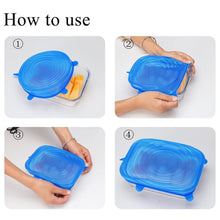Load image into Gallery viewer, Zero-Waste Reusable Lids - 6 Piece Set