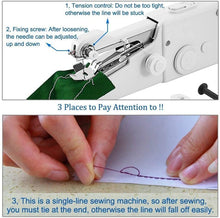 Load image into Gallery viewer, Portable Handheld Sewing Machine【FLASH SALE - 60% OFF】