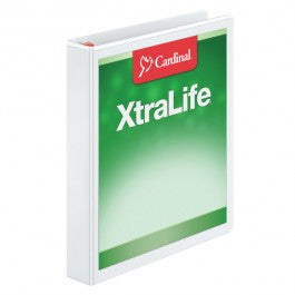 Cardinal XtraLife ClearVue Non-Stick Locking Slant-D Ring Binder - Justbinding.com