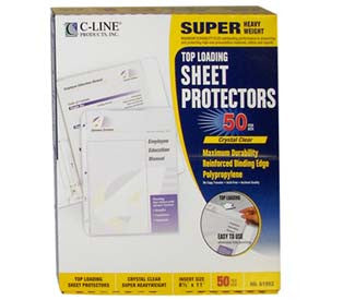 Super Heavyweight Polypropylene Sheet Protector, non-glare, 11 x 8 1/2, 50/BX, 61008 - Justbinding.com