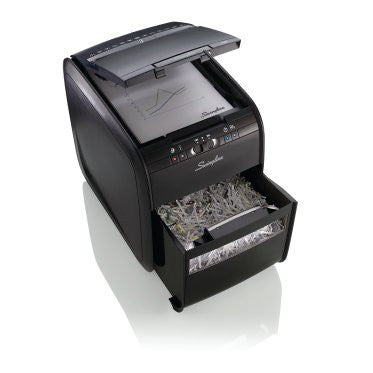 Swingline Stack-and-Shred 80X Hands Free Shredder - Justbinding.com