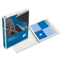 White 3 ring angle D ring view binder