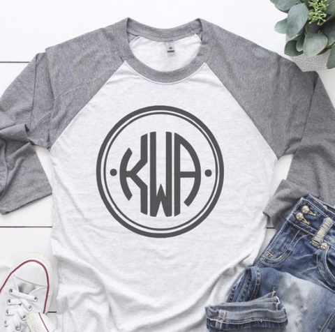 24 Hour Baseball Monogram Sale