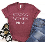 Strong woman pray