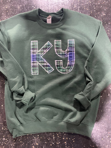 KY plaid sweatshirt