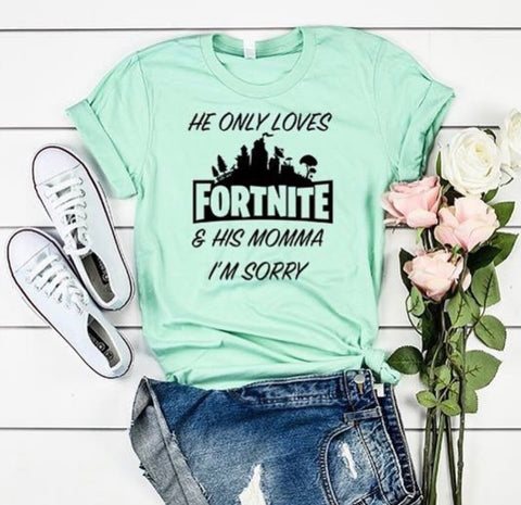 He only loves fortnite
