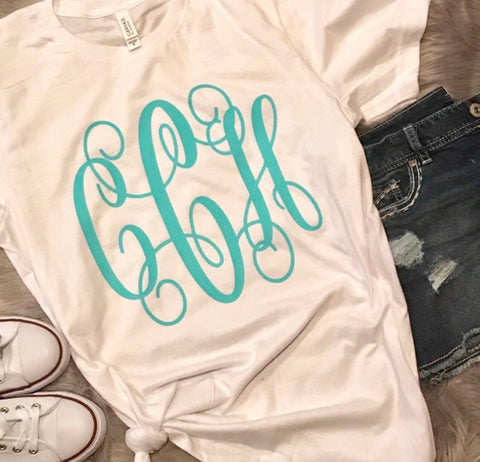 Soft Tee Full Chest Monogram