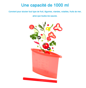 Sachet de Conservation Alimentaire Réutilisable (Lot de 4)