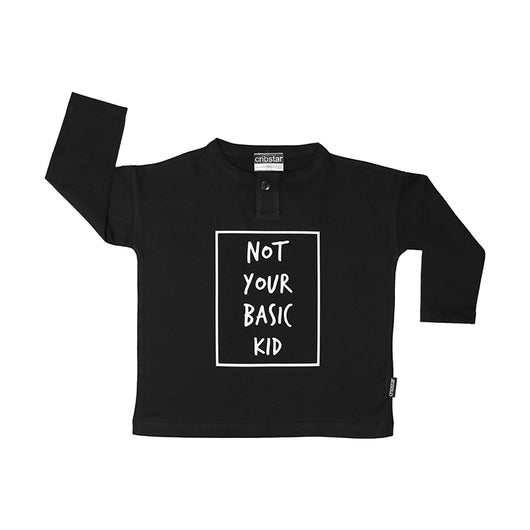 Not Your Basic Kid Long Sleeve Top (Black)