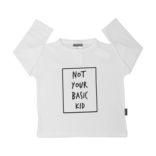 Not Your Basic Kid Long Sleeve Top (White)