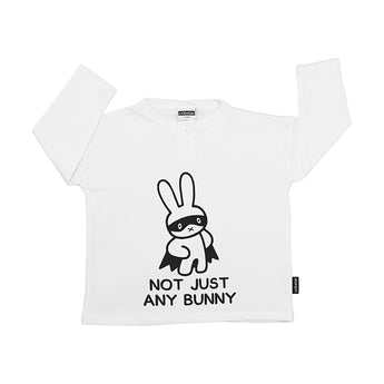 Not Just Any Bunny Long Sleeve Button Top