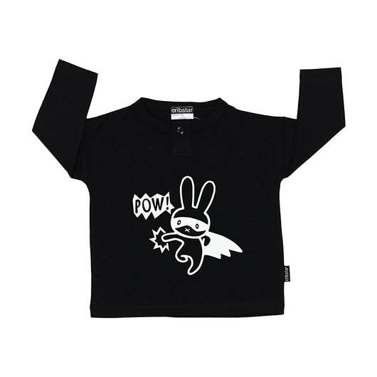 POW Bunny Long Sleeve Button Top