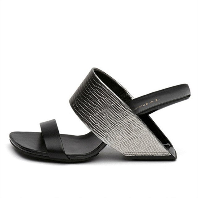 Floating Heel Leather Sandals - olivias-room-boutique