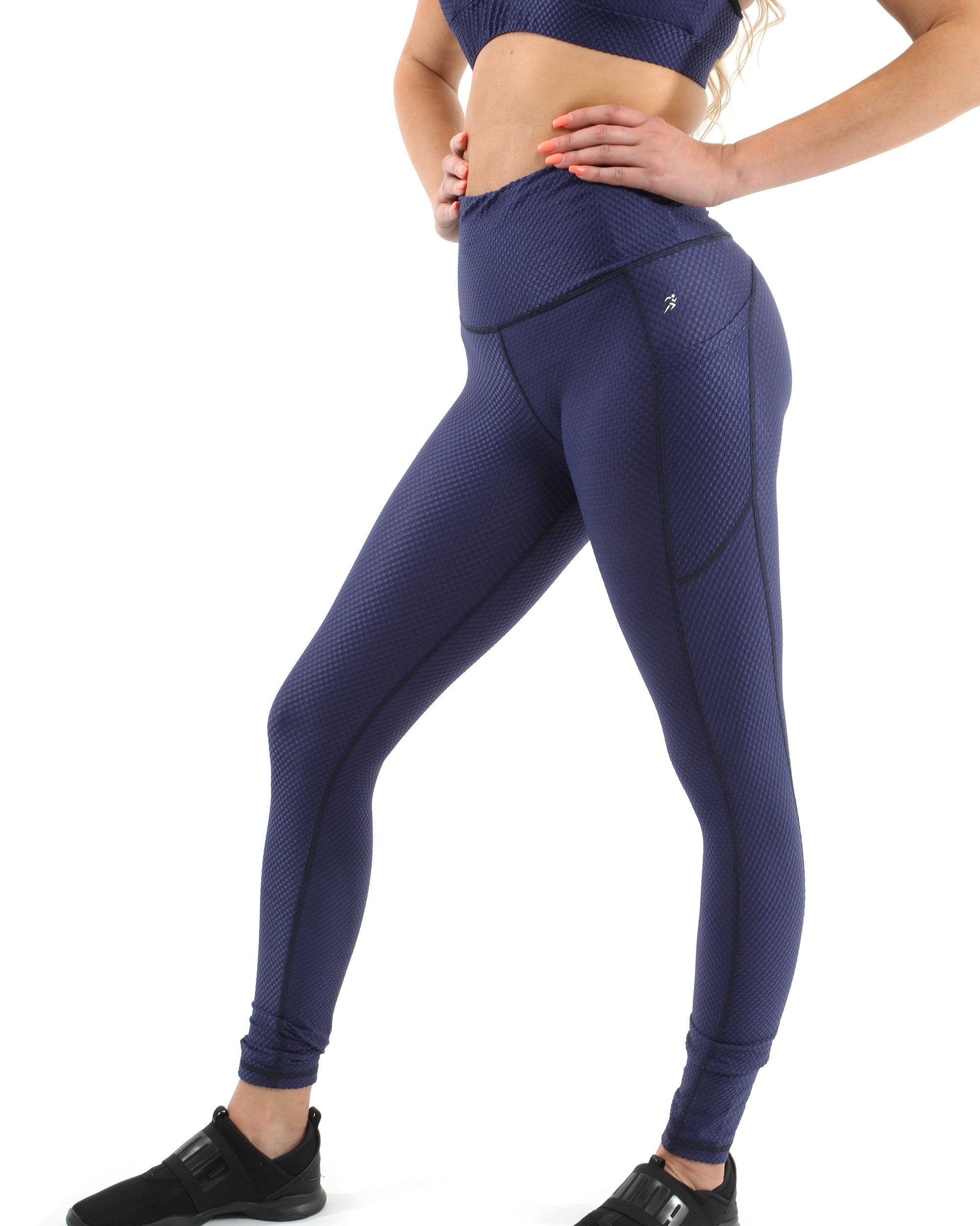 Venice Activewear Leggings - Navy [MADE IN ITALY] - Monsoon Ridge