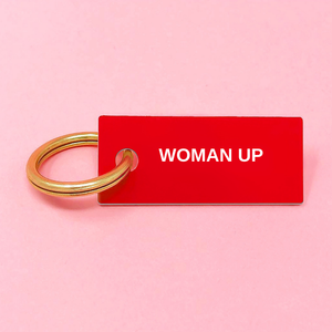 WOMAN UP Keychain Red