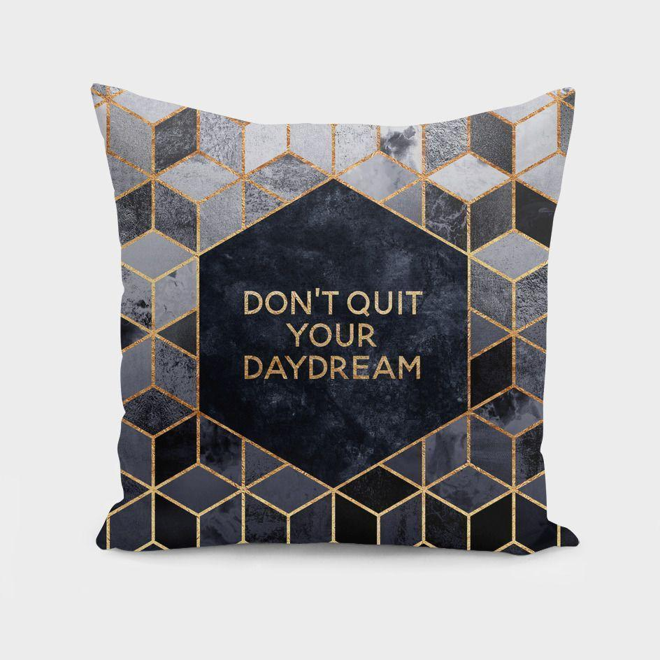 Don't quit your daydream  Cushion/Pillow Cover - olivias-room-boutique