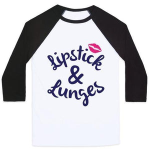 LIPSTICK AND LUNGES UNISEX CLASSIC BASEBALL TEE - olivias-room-boutique