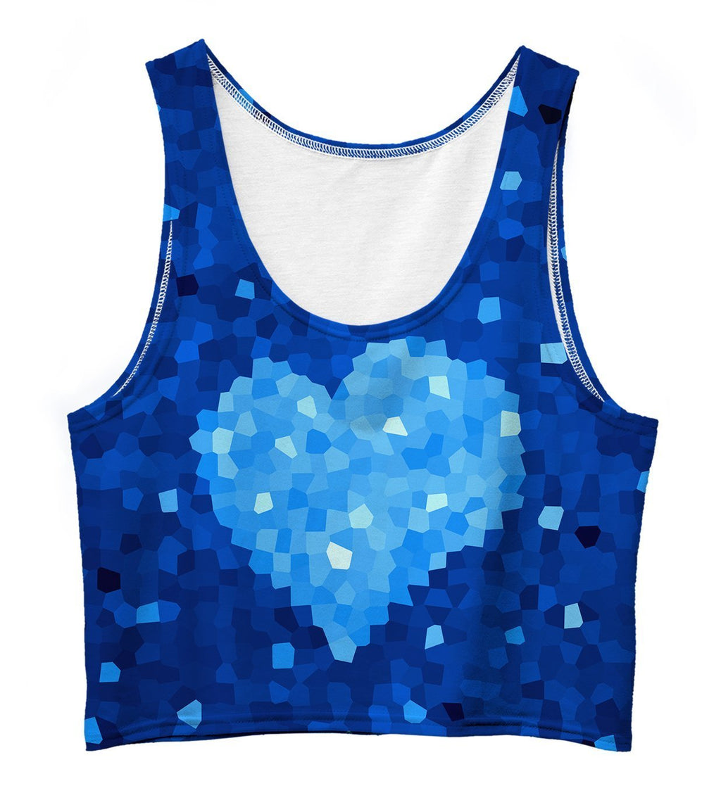 Glass Heart Crop Top - olivias-room-boutique