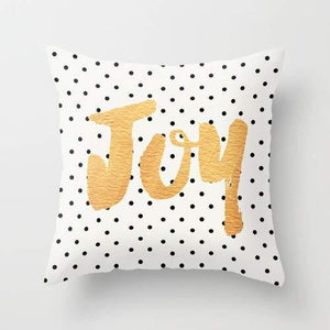 Joy - Polka dots and gold Pillow - olivias-room-boutique