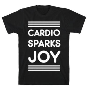 CARDIO SPARKS JOY BLACK  T-SHIRT