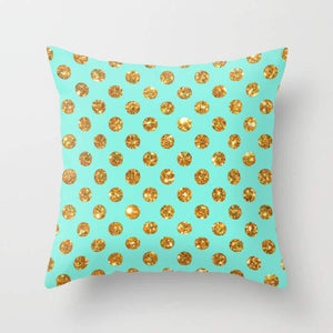 Gold  Polka Dots  Cushion/Pillow Cover - olivias-room-boutique