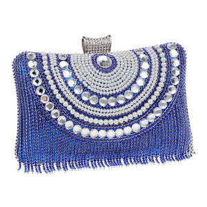 Rhinestones Tassel Clutch - olivias-room-boutique