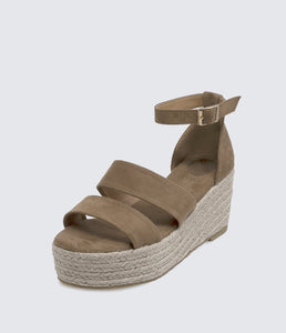 Amara Platform Wedge Sandals Tan - Monsoon Ridge
