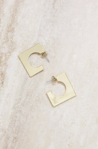 Chic Cut Out Square Hoops
