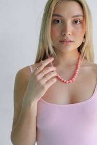 Solitary Pearl Gold Ring - Pink