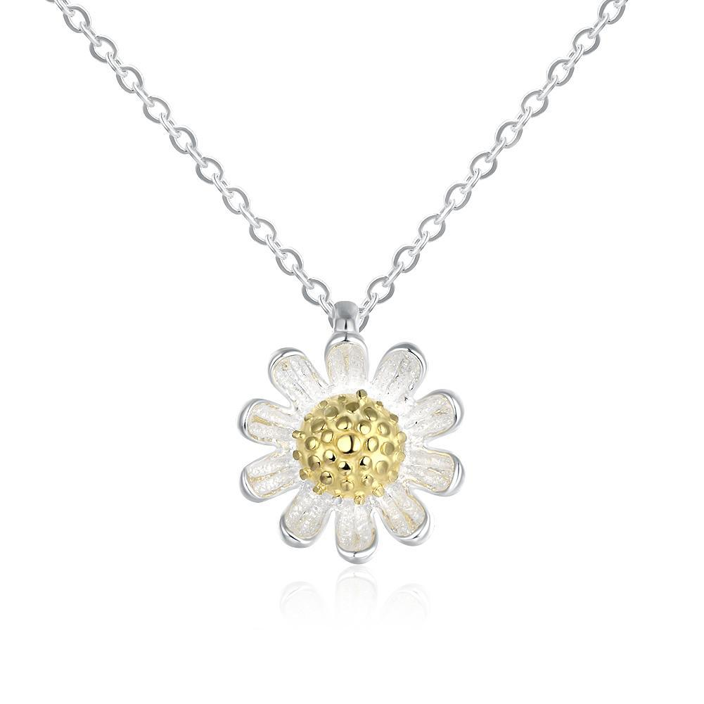 Sterling Silver Daisy Flower Necklace - Monsoon Ridge