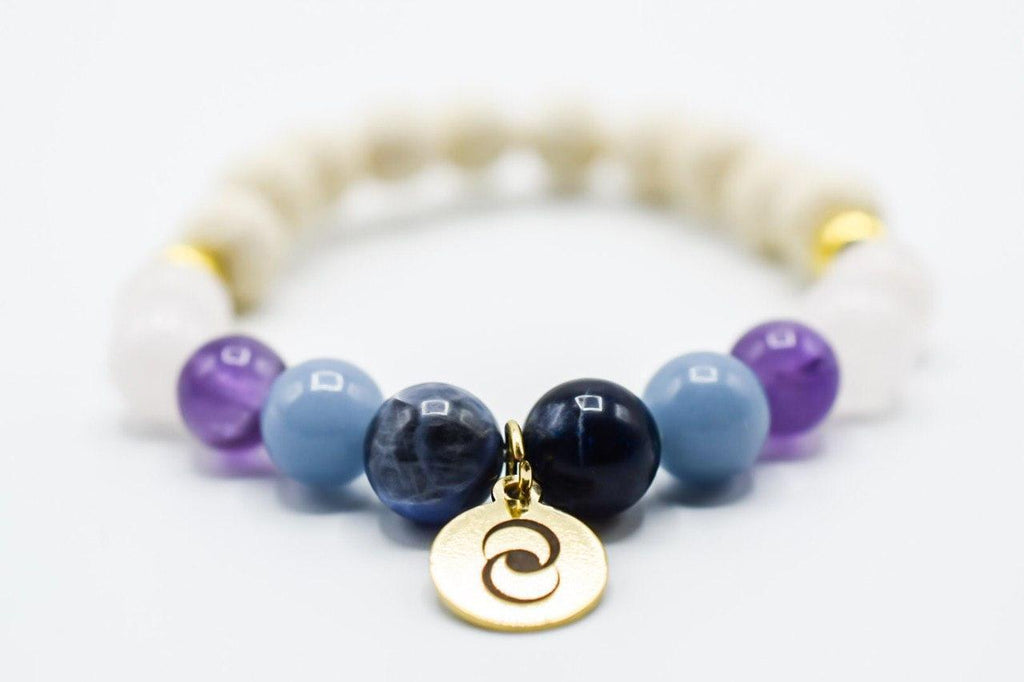 Anxiety Relief Diffuser Bracelet Natural Gemstones - Monsoon Ridge