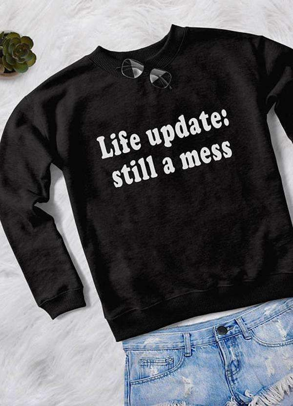 LIFE UPDATES  SWEAT SHIRT - olivias-room-boutique