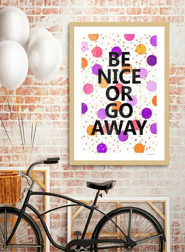Be Nice Or Go Away Frame - olivias-room-boutique