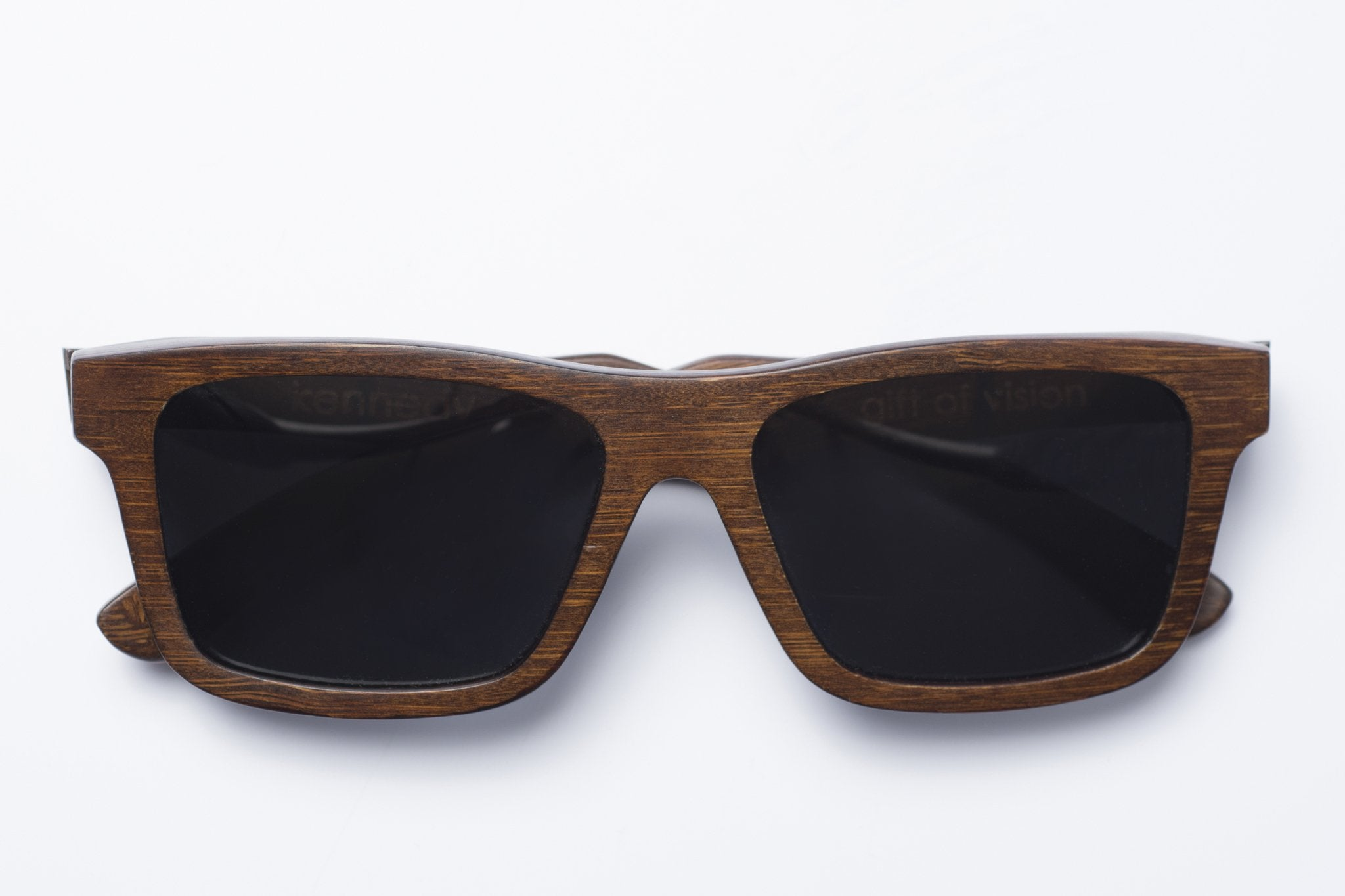 Kennedy Bamboo Sunglasses Polarized Black/Brown/Natural - Monsoon Ridge