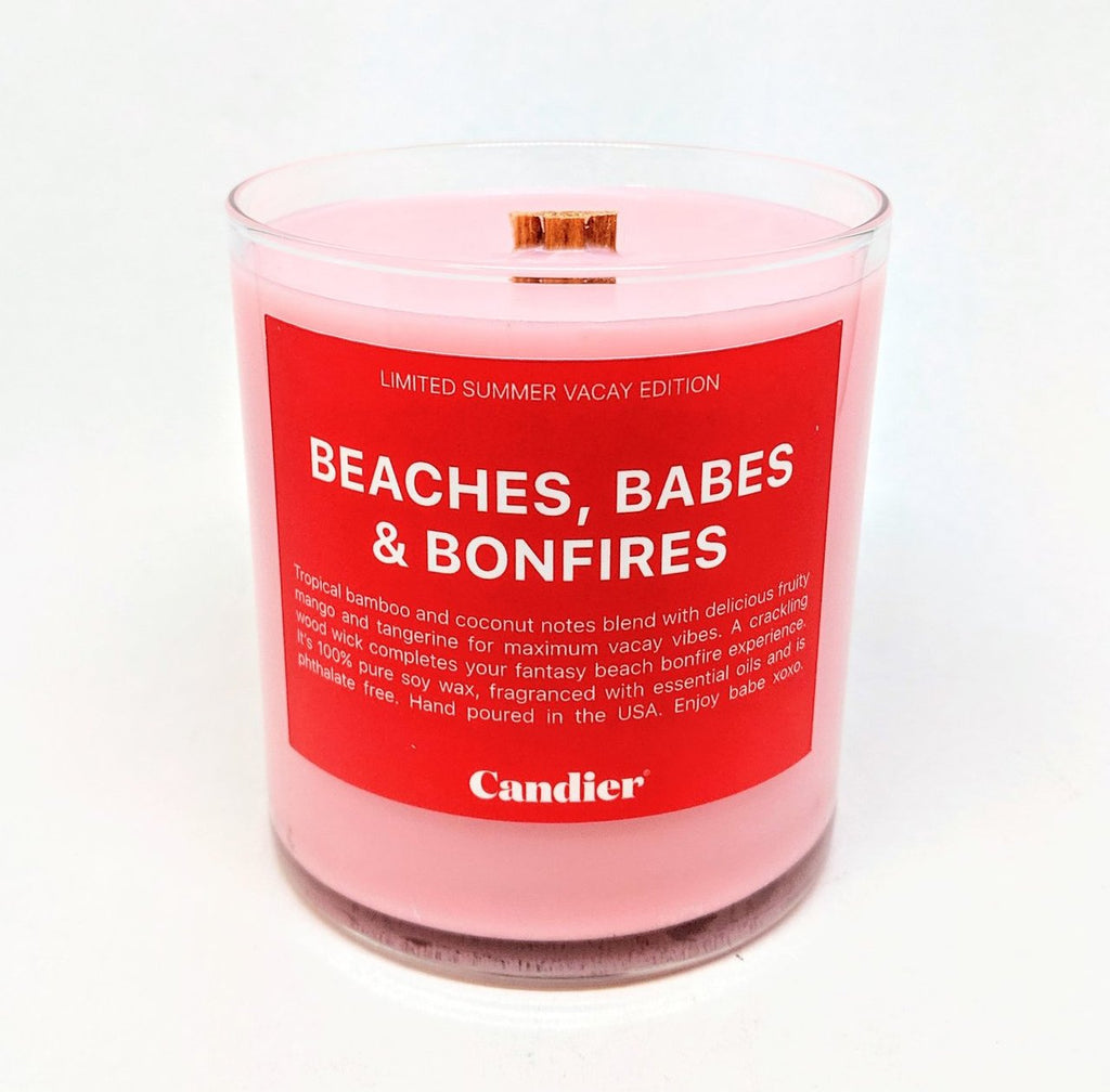 BEACHES, BABES AND BONFIRES CANDLE - Monsoon Ridge