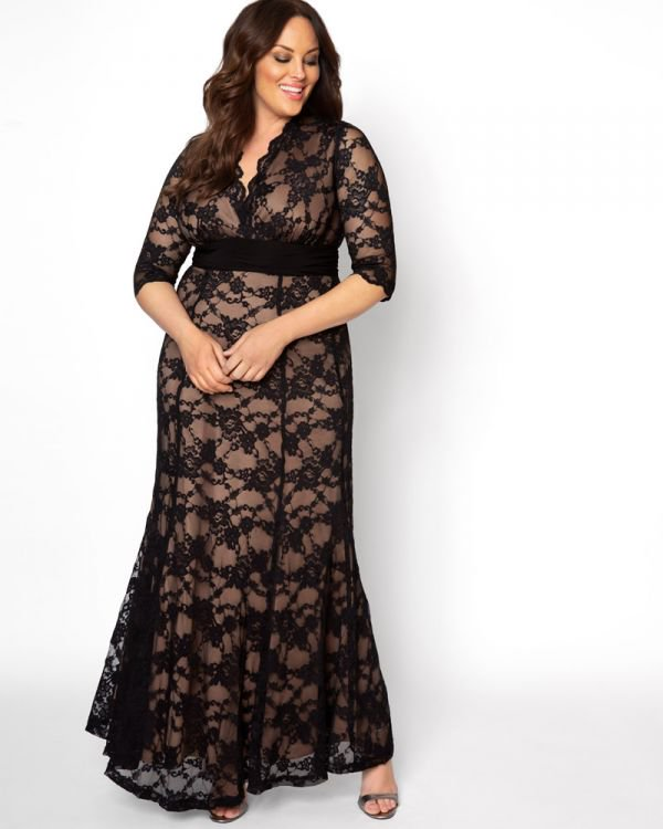 Plus Size Screen Siren Lace Gown Assorted