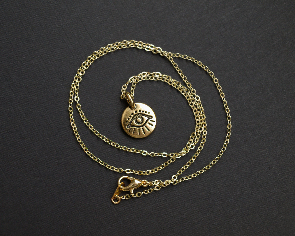 Delicate Evil Eye Necklace - Monsoon Ridge