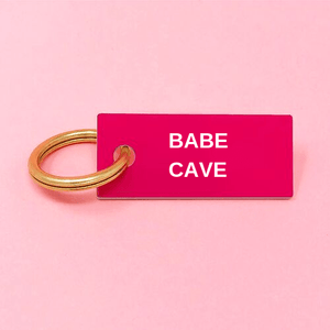BABE CAVE Keychain Pink