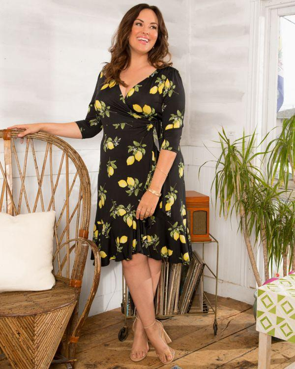 Flirty Flounce True Wrap Dress Plus size - Monsoon Ridge