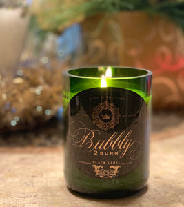 Bubbly 2 Burn Black Label Champagne Candle